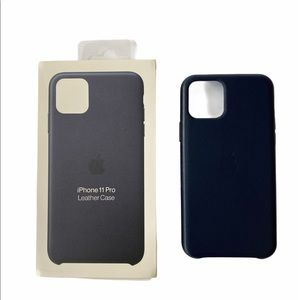 Midnight Blue Leather iPhone 11 Pro case